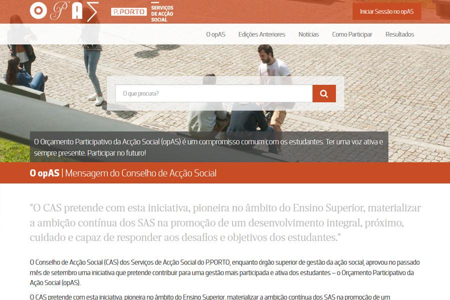 Segunda Edição do Orçamento Participativo do SAS do Instituto Politécnico do Porto