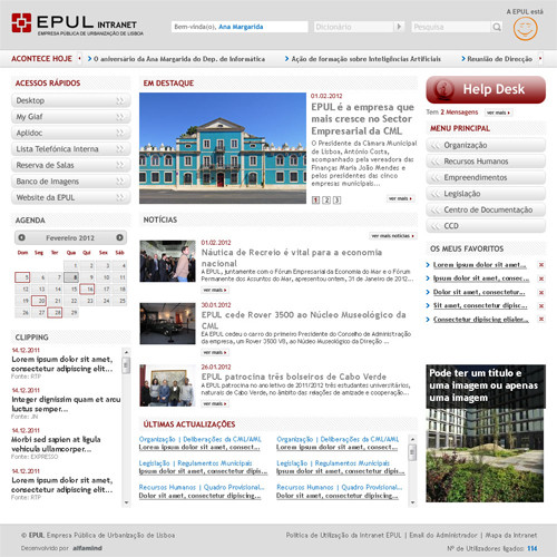 Intranet EPUL – Empresa Pública de Urbanização de Lisboa