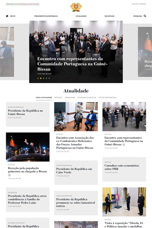 New portal of the Presidency of the Portuguese Republic