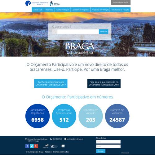 Orçamento Participativo da Câmara Municipal de Braga – Edição de 2016