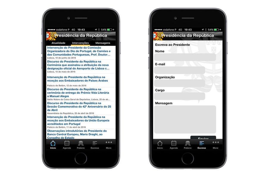 App iPhone – Presidência da República Portuguesa