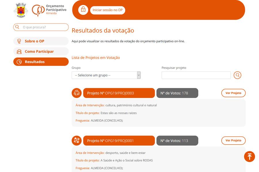 Orçamento Participativo da Câmara Municipal de Almeida