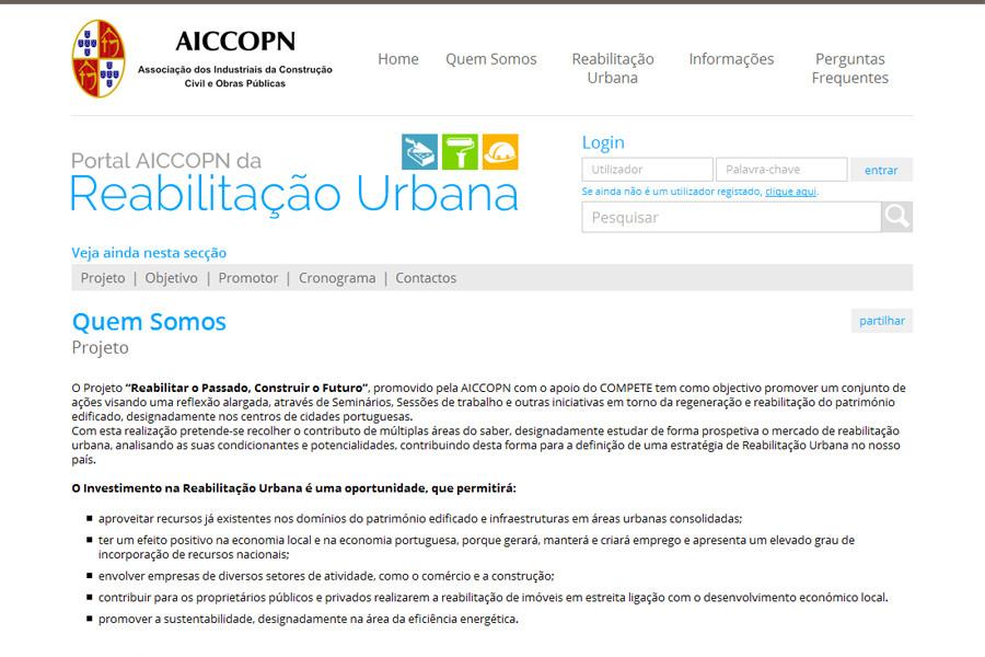 Portal AICCOPN da Reabilitação Urbana