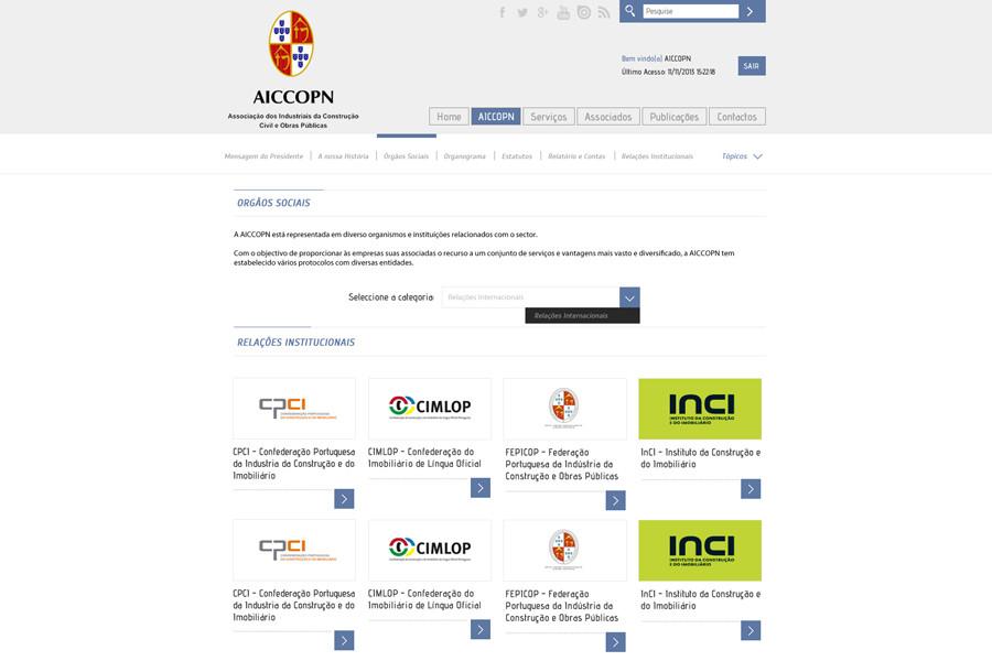Portal Institucional AICCOPN