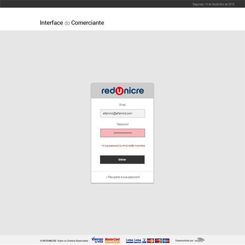 Gateway de Pagamentos Redunicre – Interface do Comerciante
