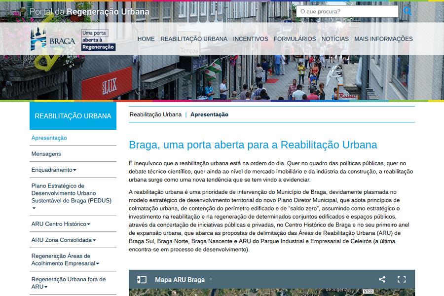Portal da Regeneração Urbana da Câmara Municipal de Braga