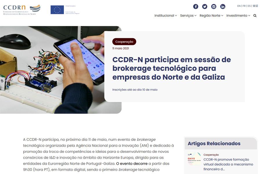 Novo Portal institucional da CCDR-N