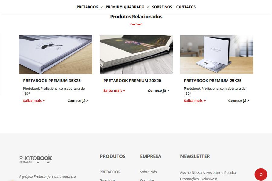 Website PHOTOBOOK PRETACOR