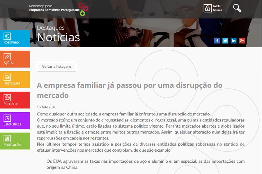 Portal Roadmap para as Empresas Familiares Portuguesas