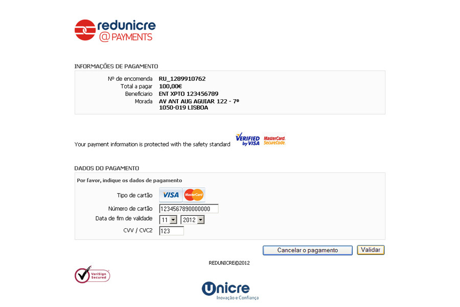 REDUNICRE@Payments