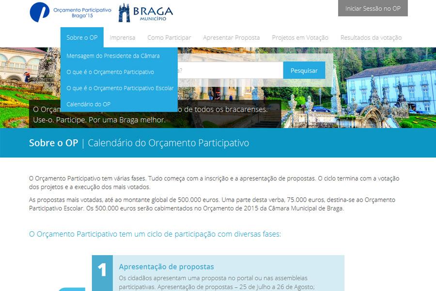 Orçamento Participativo da Câmara Municipal de Braga – Edição de 2014