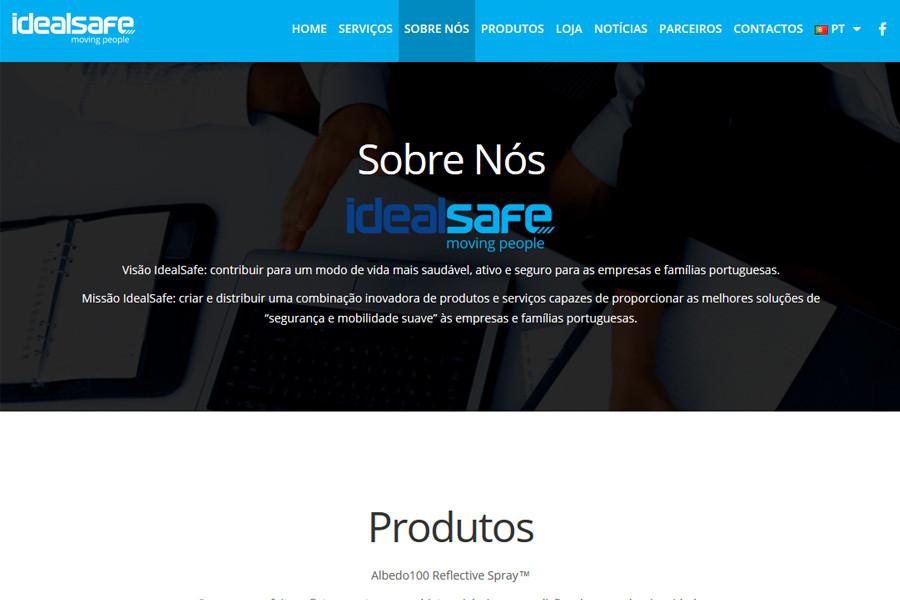 Website Idealsafe – moving people