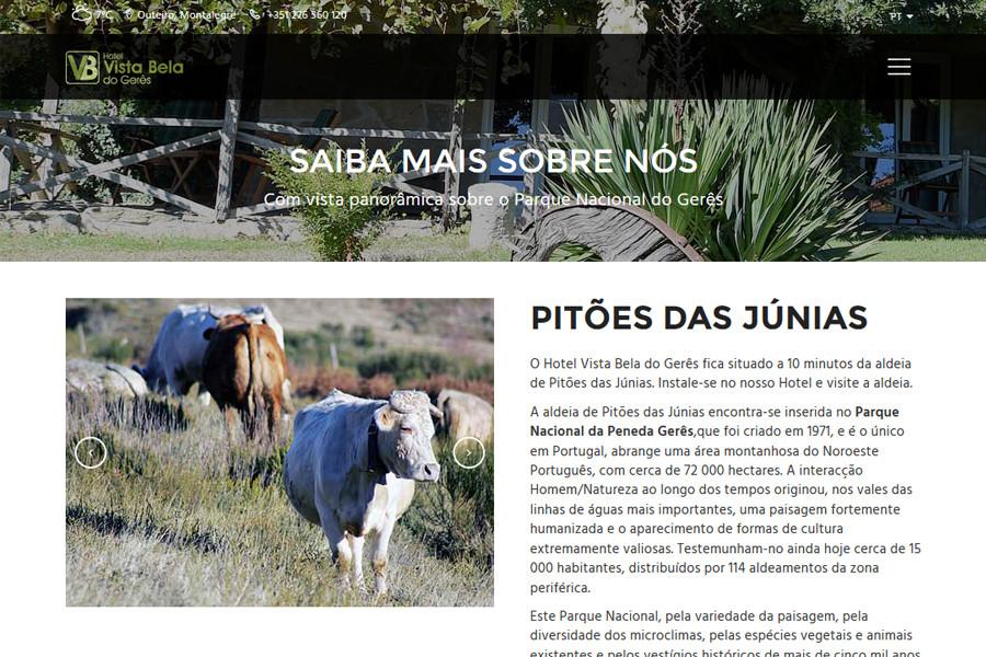 Website Hotel Vista Bela do Gerês