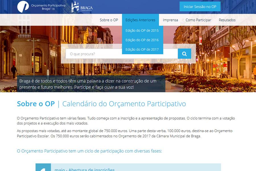 Orçamento Participativo da Câmara Municipal de Braga – Edição de 2017